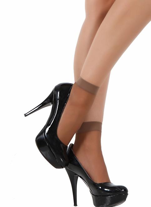 Pierre Cardin 9 Çift  Likralı Soket Çorap Bronz